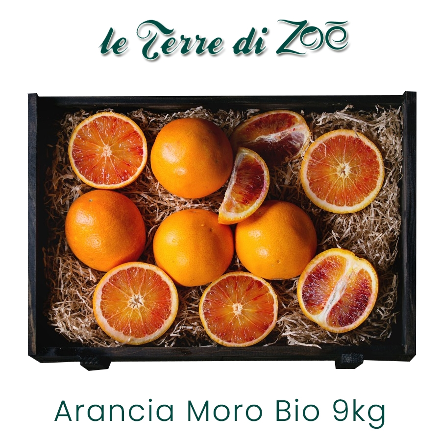 Organic Calabrian blood orange in 9kg box Le Terre di Zoè