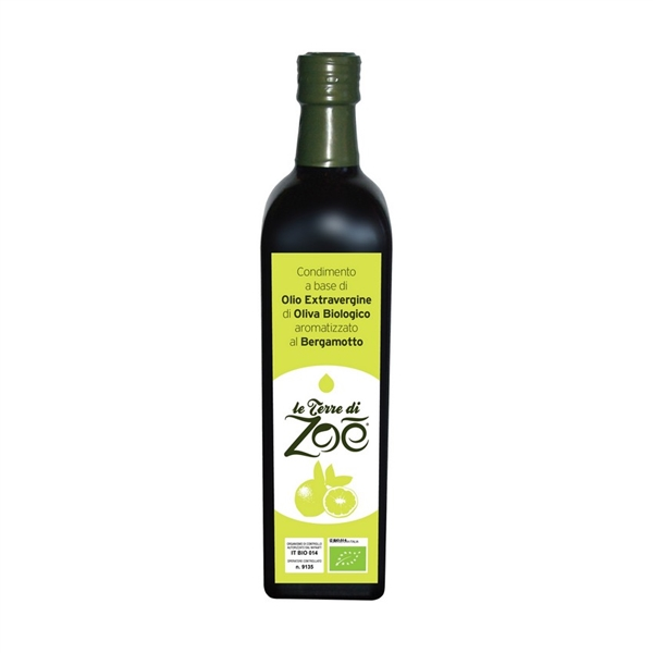 Organic ExtraVirgin Olive Oil flavoured Bergamot 250ml