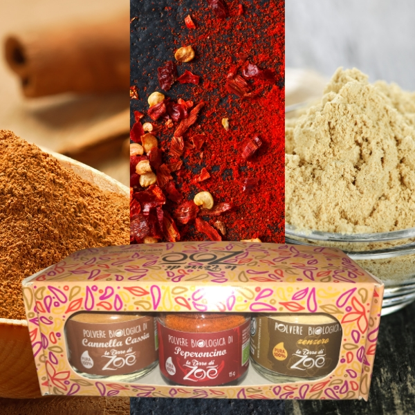 Tris Spices Cinnamon Cassia, Chilli, Ginger with gift box