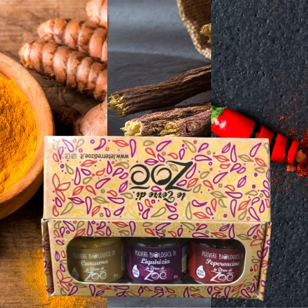 Tris Spices Turmeric, Licorice and Chili with gift box
