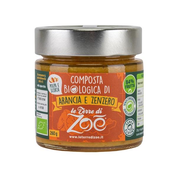 Compota de Naranja y jengibre organica italiano