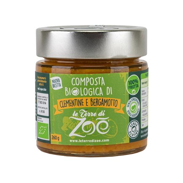 Compota de Clementina y Bergamota organica italiano