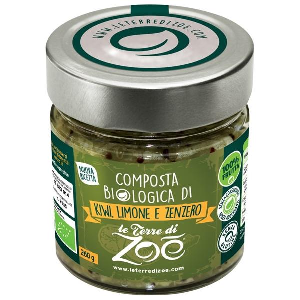 Compota de Kiwi,Limón y jengibre organico italiano