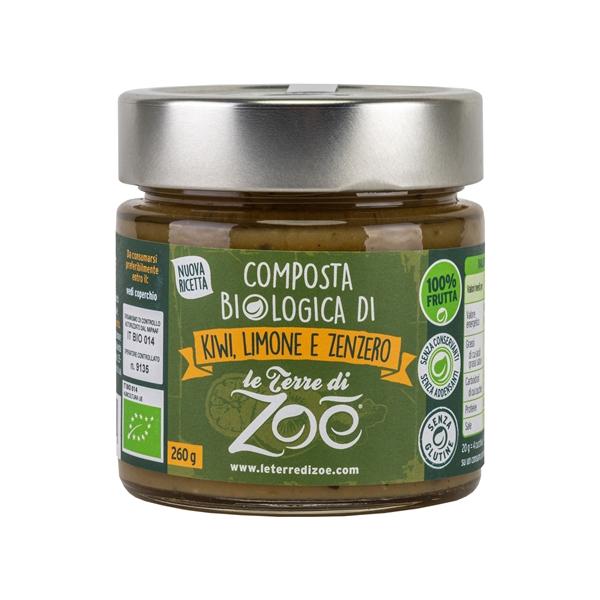 Italian Kiwi,Lemon and Ginger Organic Compotes