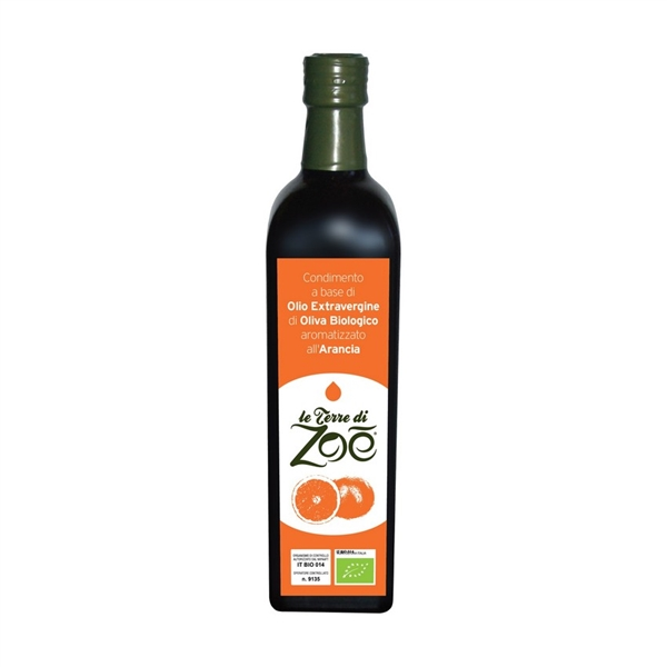 Dressing based on Organic Extra Virgin Olive Oil of Calabria Flavored with Orange
