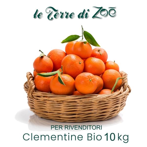 Clementinas de Calabria orgánica en caja de 10 kg