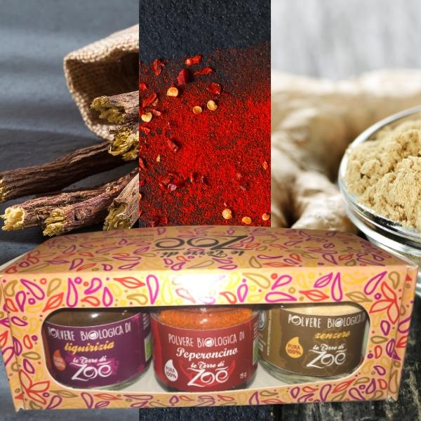 Tris Spices Lakritz, Chili und Ingwer mit Geschenkbox