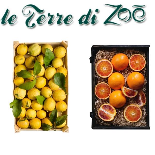 Arance Moro Biologiche di Calabria (5kg) e Limoni Biologici (4Kg) in cassetta